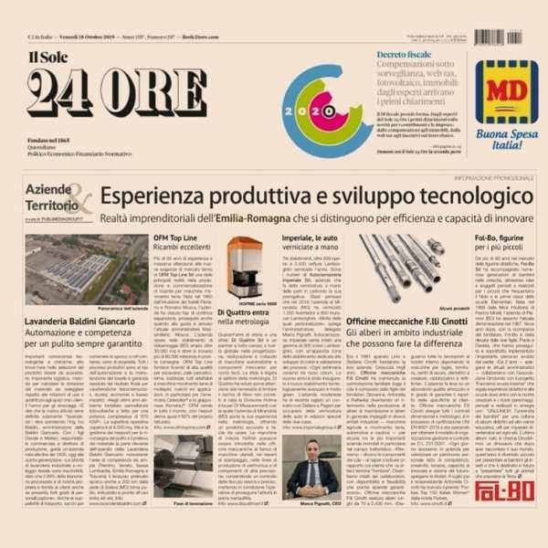 Il sole24ore - Imperiale Group Mirandola